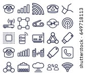 connect icons set. set of 25... | Shutterstock .eps vector #649718113