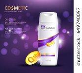 bottles of shampoo. cosmetic... | Shutterstock .eps vector #649740097