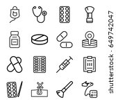 treatment icons set. set of 16... | Shutterstock .eps vector #649742047