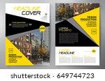 business brochure. flyer design....   Shutterstock .eps vector #649744723