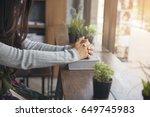 beautiful woman  christian ...   Shutterstock . vector #649745983