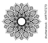 mandalas for coloring book.... | Shutterstock .eps vector #649747273