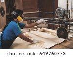workers working in wood factory ... | Shutterstock . vector #649760773