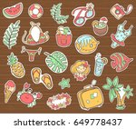 vector cute doodle collection... | Shutterstock .eps vector #649778437
