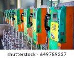 Colorful Public Phones.