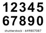 set of grunge numbers.vector...   Shutterstock .eps vector #649807087