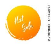 hot sale handwritten word with... | Shutterstock .eps vector #649810987