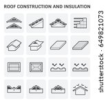 roof construction and... | Shutterstock .eps vector #649821073