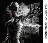 3d illustration. the stylish... | Shutterstock . vector #649830193