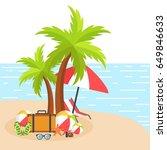 summer background with beach... | Shutterstock .eps vector #649846633