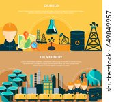 oil industry banners set with... | Shutterstock .eps vector #649849957