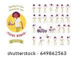 ready to use character set.... | Shutterstock .eps vector #649862563