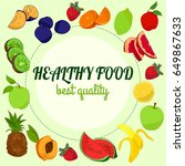 healthy food illustration with... | Shutterstock .eps vector #649867633