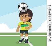 african female soccer player... | Shutterstock .eps vector #649894543