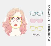 vector set beautiful women... | Shutterstock .eps vector #649894903