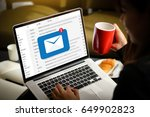 mail communication connection... | Shutterstock . vector #649902823