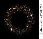 vector background of glowing... | Shutterstock . vector #649905733
