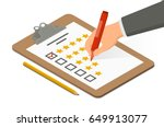 hand holding highlighter over... | Shutterstock .eps vector #649913077