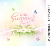 colorful summer background with ... | Shutterstock .eps vector #649914547