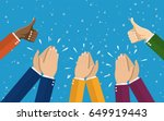 human hands clapping. applaud... | Shutterstock . vector #649919443