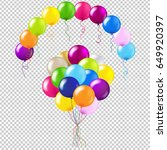 balloons colorful set gradient... | Shutterstock .eps vector #649920397