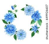 Wildflower Dahila Flower Frame...