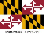 maryland state flag of america  ... | Shutterstock . vector #64994644