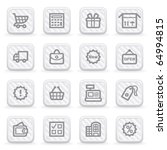 shopping icons on gray buttons. | Shutterstock .eps vector #64994815