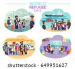 world refugee day promotional...   Shutterstock .eps vector #649951627