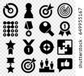 challenge icons set. set of 16... | Shutterstock .eps vector #649955167