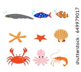 collection of types of animal ... | Shutterstock .eps vector #649979017