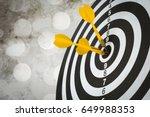 success hitting target  aim... | Shutterstock . vector #649988353