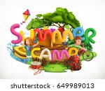 summer camp. camping and... | Shutterstock .eps vector #649989013