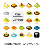 color icons set in flat... | Shutterstock .eps vector #649997773