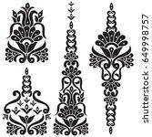 floral motif set | Shutterstock .eps vector #649998757