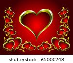 a vector valentines background... | Shutterstock .eps vector #65000248