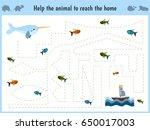 maze game. educational children ... | Shutterstock . vector #650017003