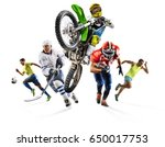huge multi sports collage... | Shutterstock . vector #650017753
