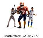 multi sport collage soccer... | Shutterstock . vector #650017777
