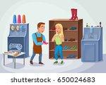 shoemaker cartoon character at... | Shutterstock .eps vector #650024683