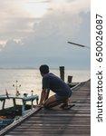 fisherman  life | Shutterstock . vector #650026087
