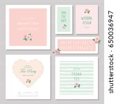 wedding card templates set.... | Shutterstock .eps vector #650036947