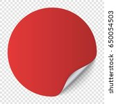 red round paper sticker... | Shutterstock .eps vector #650054503