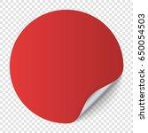red round paper sticker... | Shutterstock .eps vector #650054503