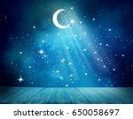 islamic greeting  eid mubarak... | Shutterstock . vector #650058697
