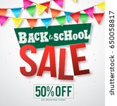 back to school sale vector... | Shutterstock .eps vector #650058817