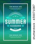 summer sale banner shopping on... | Shutterstock .eps vector #650071087