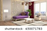 interior living room. 3d... | Shutterstock . vector #650071783