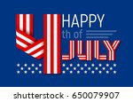 happy 4th of july greeting card ...   Shutterstock .eps vector #650079907