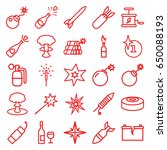 explosion icons set. set of 25...   Shutterstock .eps vector #650088193